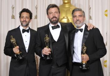 Best Picture: Grant Heslov, Ben Affleck en George Clooney