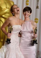 Anna Hathaway en Jennifer Lawrence